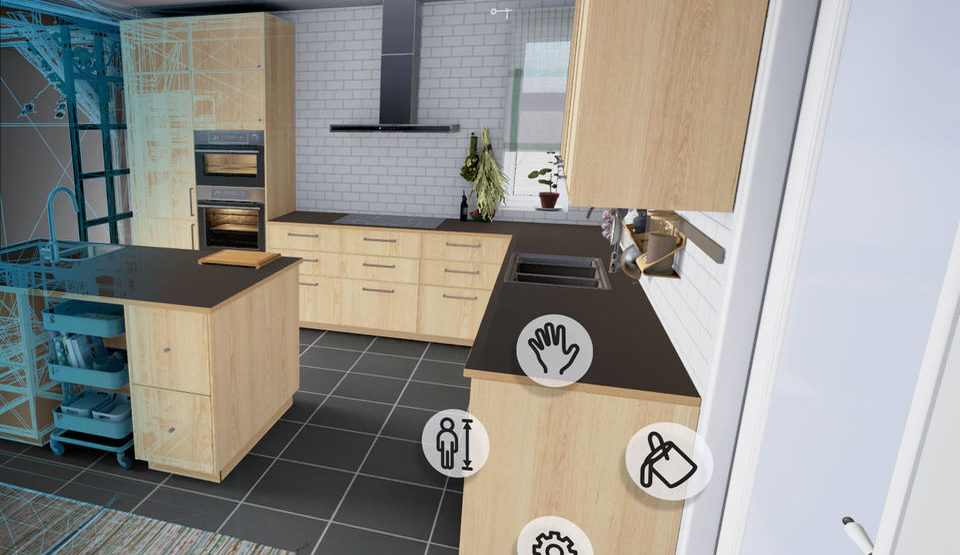 IKEA offers to design a kitchen using VR-application